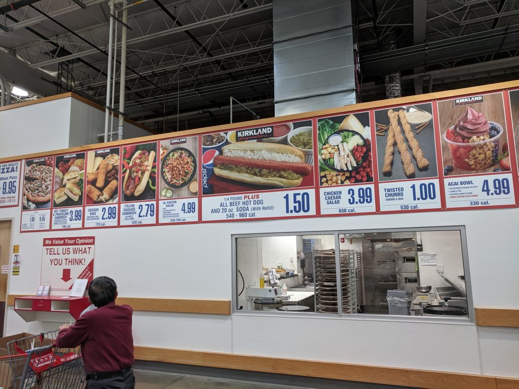Costco Food Court Menu Lunch Cheap Affordable Variety Pittsburgh