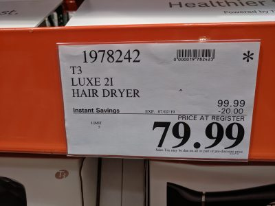 costco t3 luxe 21 hair dryer