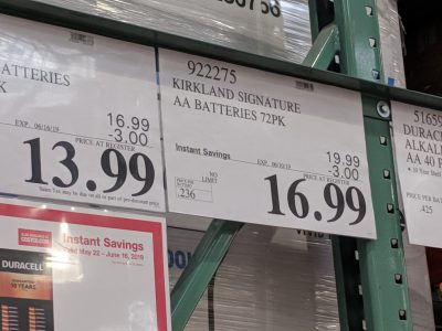 kirkland batteries on sale this month at costco