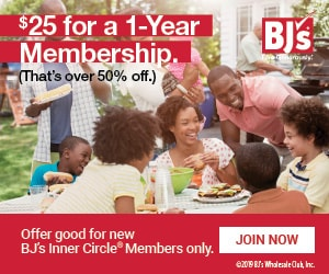 HURRY! $25 BJ's Membership Deal! (Reg. $55)