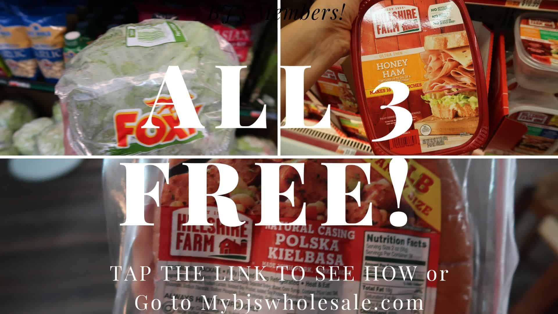 free stuff at bjs this week