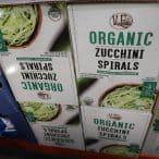 organic zucchini spirals at Costco