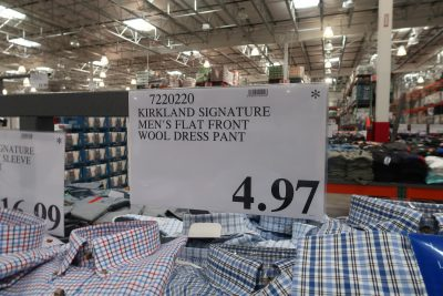 kirkland dress pants deal at costco