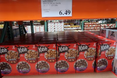 kraver cereal at Costco