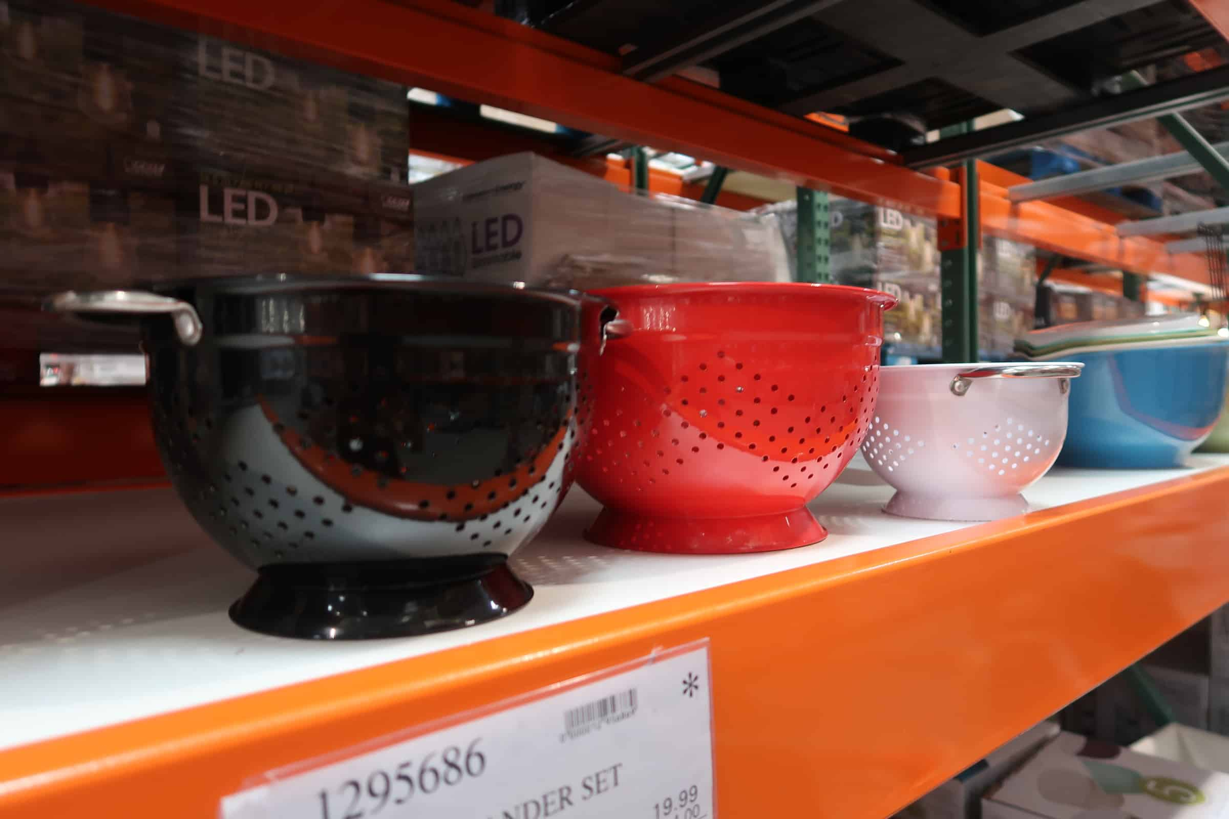 stainless steel strainers at costco