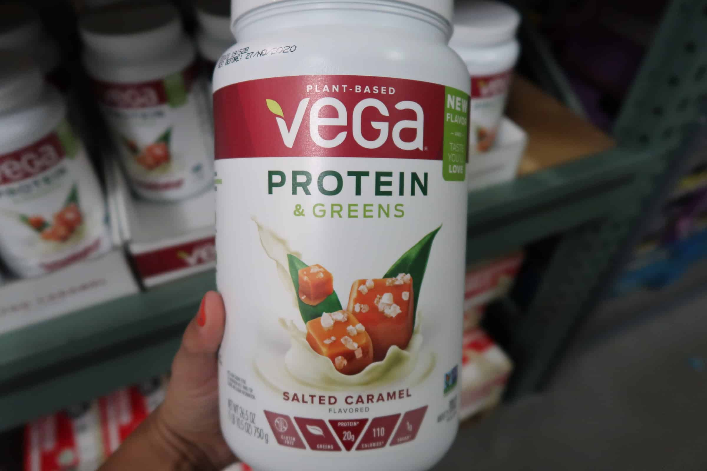 Vega Protein & Greens Salted Caramel ONLY $23.98