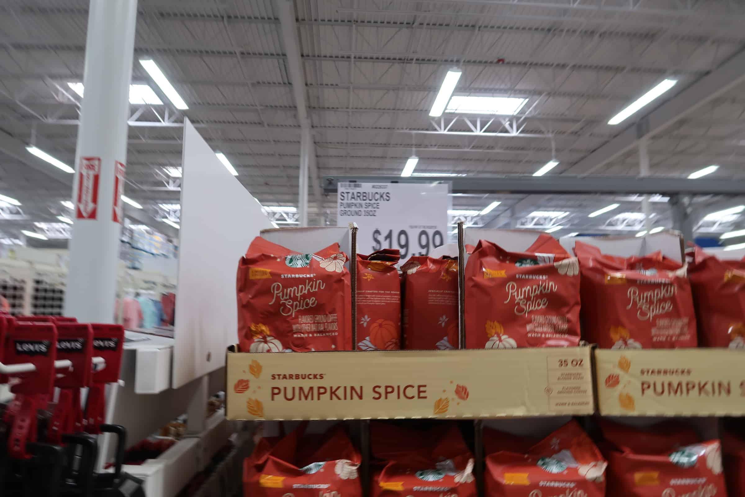 pumpkin spice coffee at Bjs