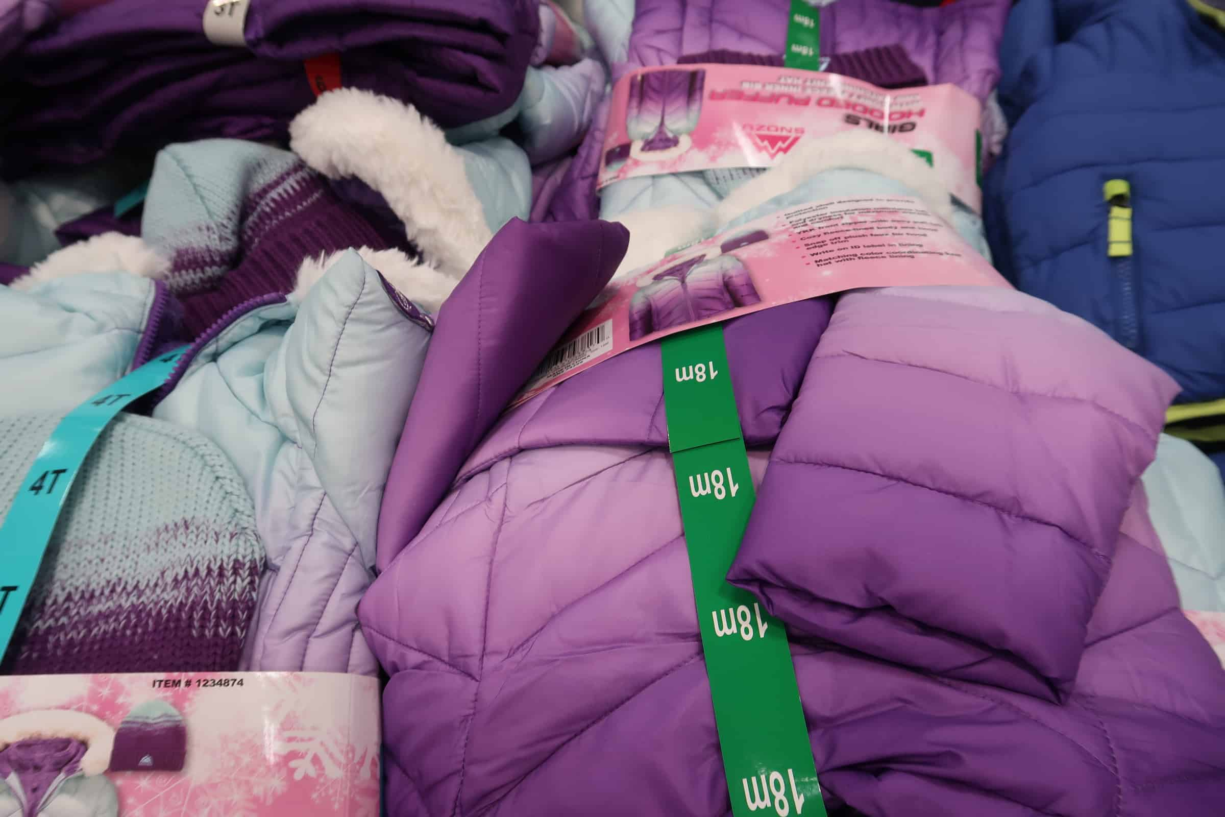 Snowpants and Winter Jackets Out at Costco