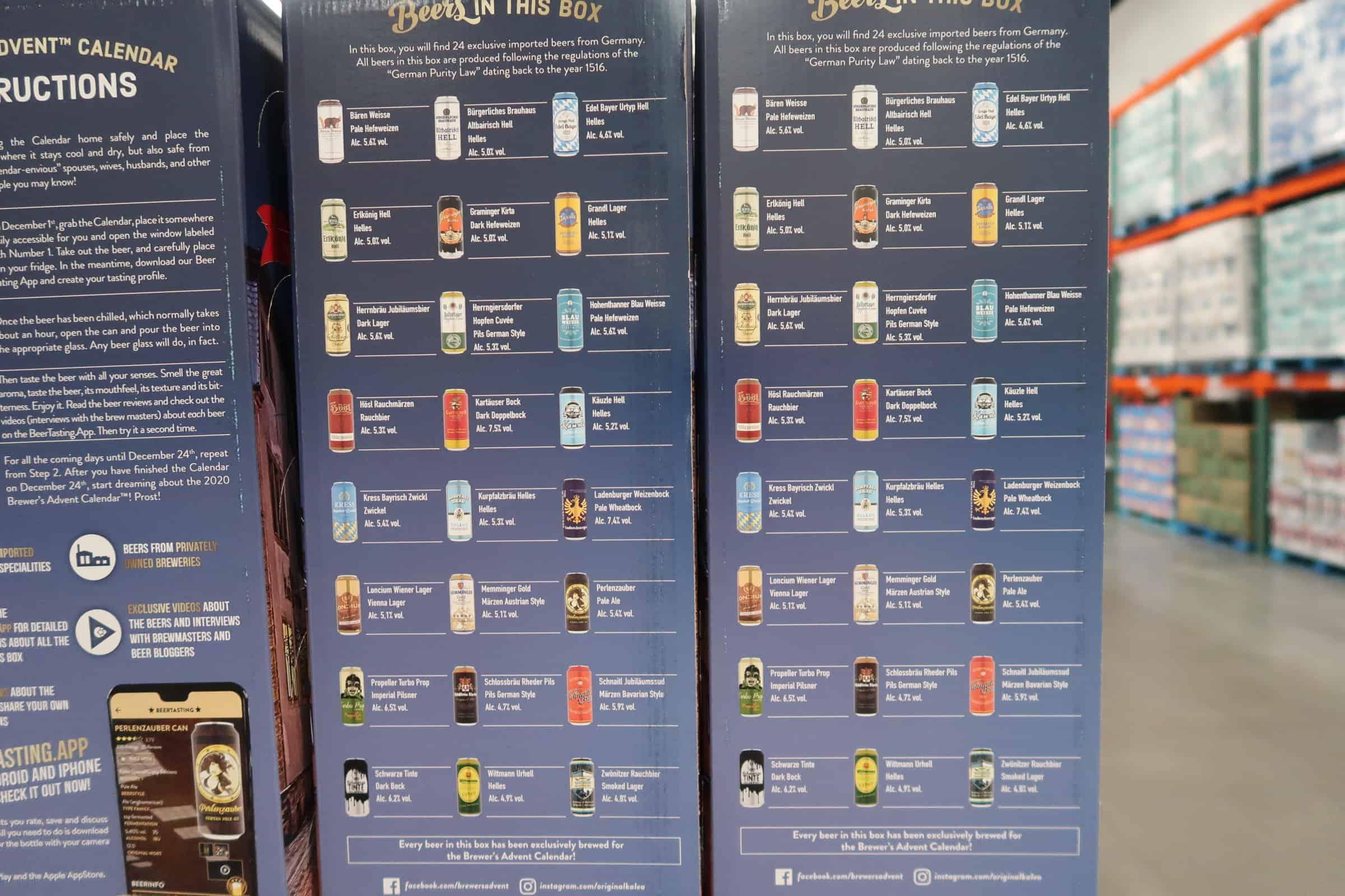 beer advent calendar at costco