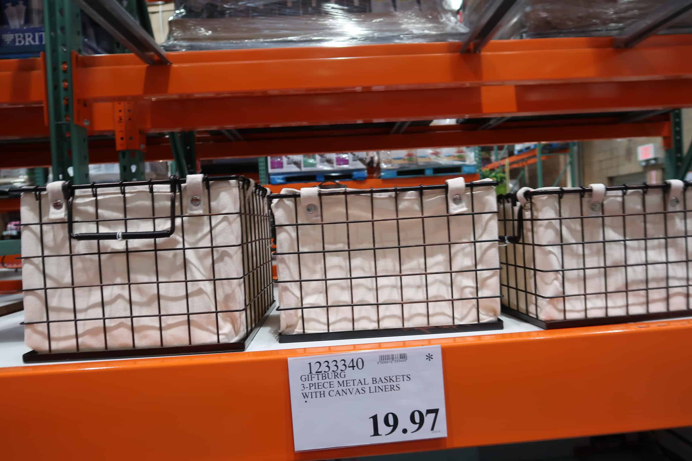wire baskets with liner at costco
