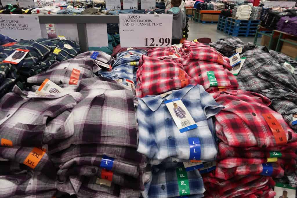 women's flannel shirts at costco