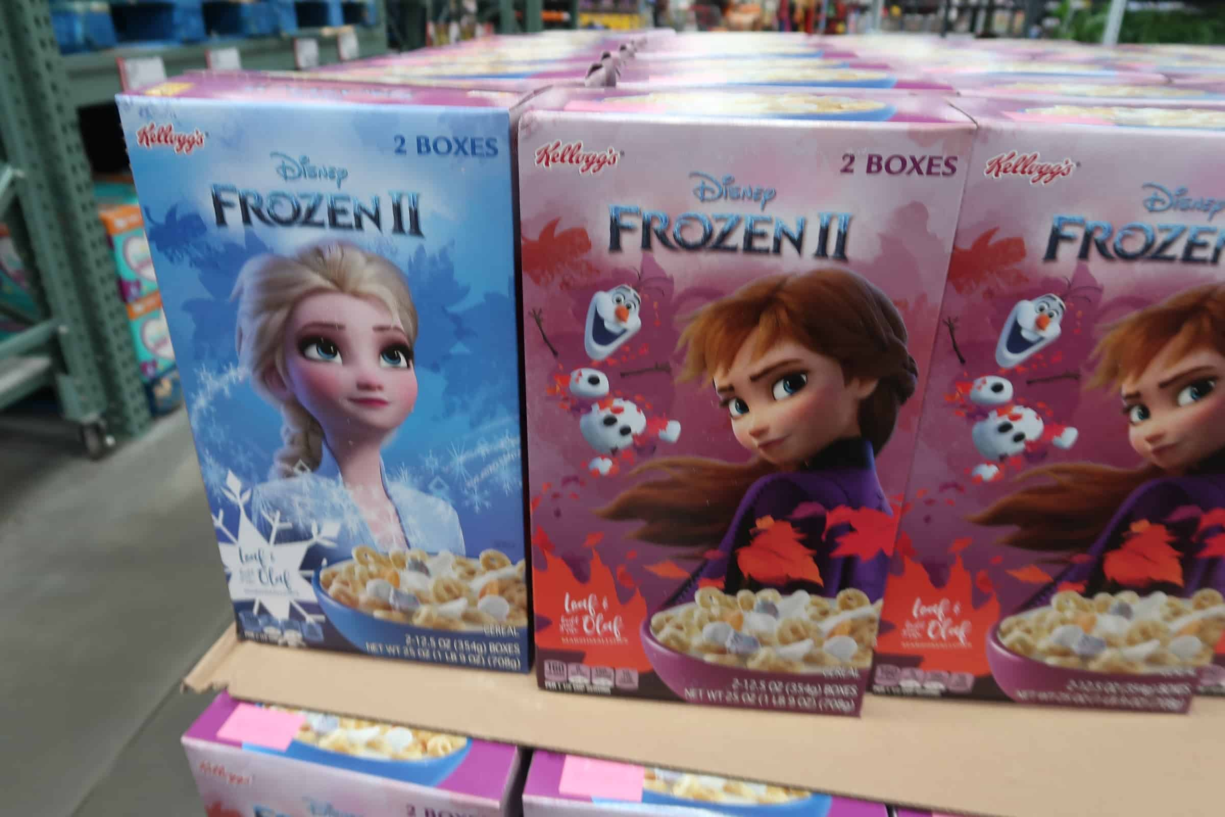 Kellogg's Frozen 2 Cereal Out at BJs