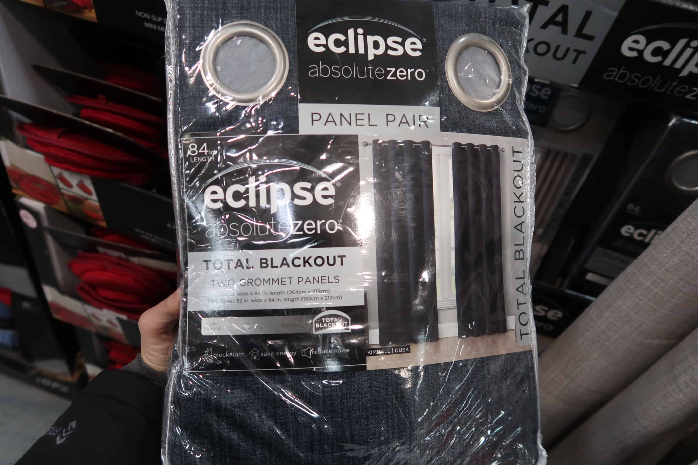 Eclipse Total Blackout Curtains 2 pk. $19.99