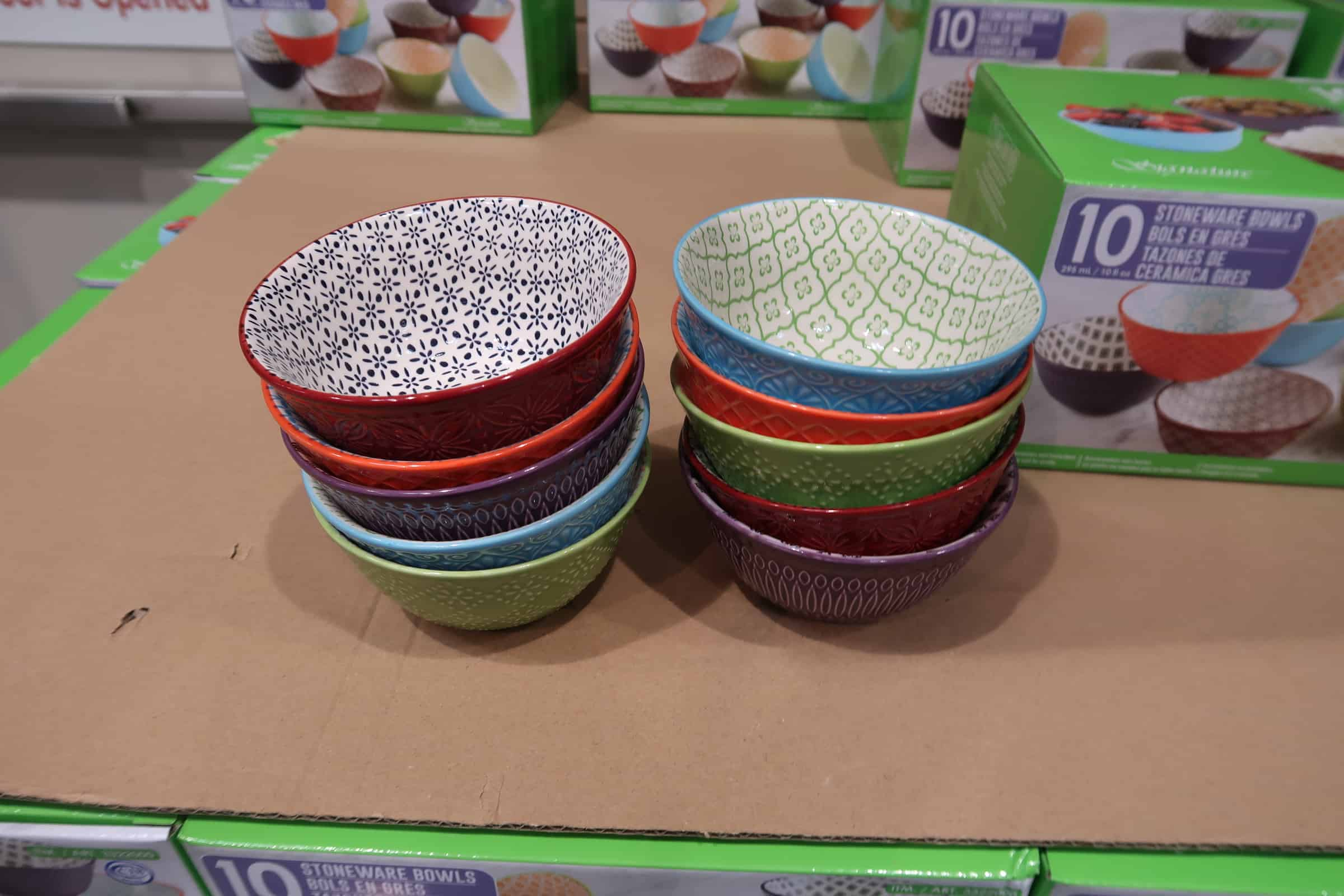 10 Pc. Stoneware Bowl Set $9.99