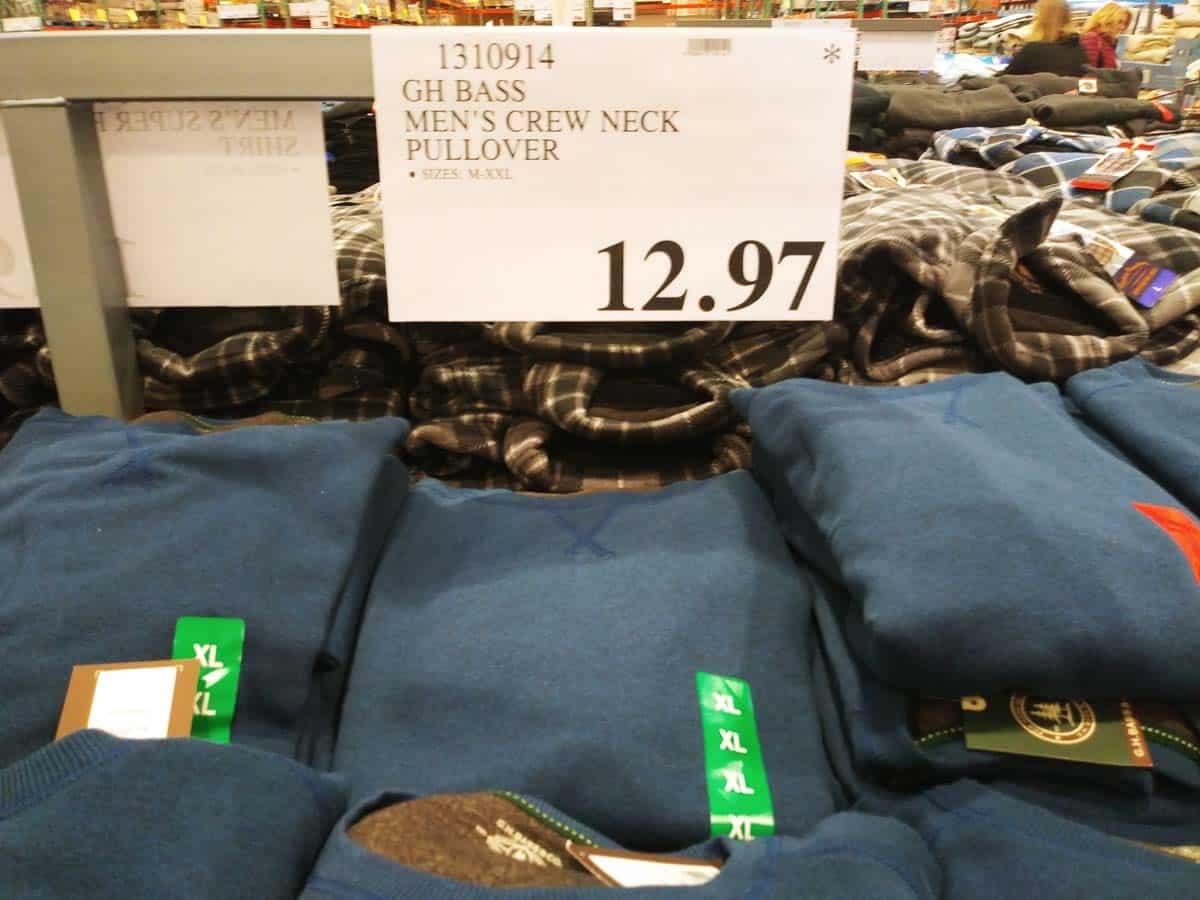 GH Bass Men's Pullover Sweater $12.97