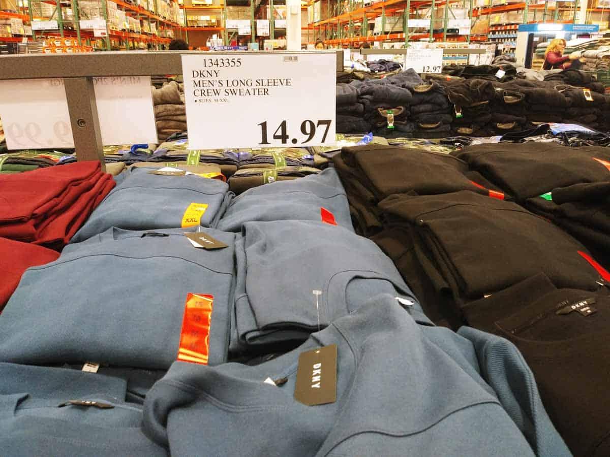 DKNY Men's Crew Sweater $14.97