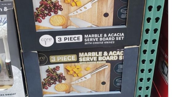 Marble and Acacia Serving Board Set on Clearance