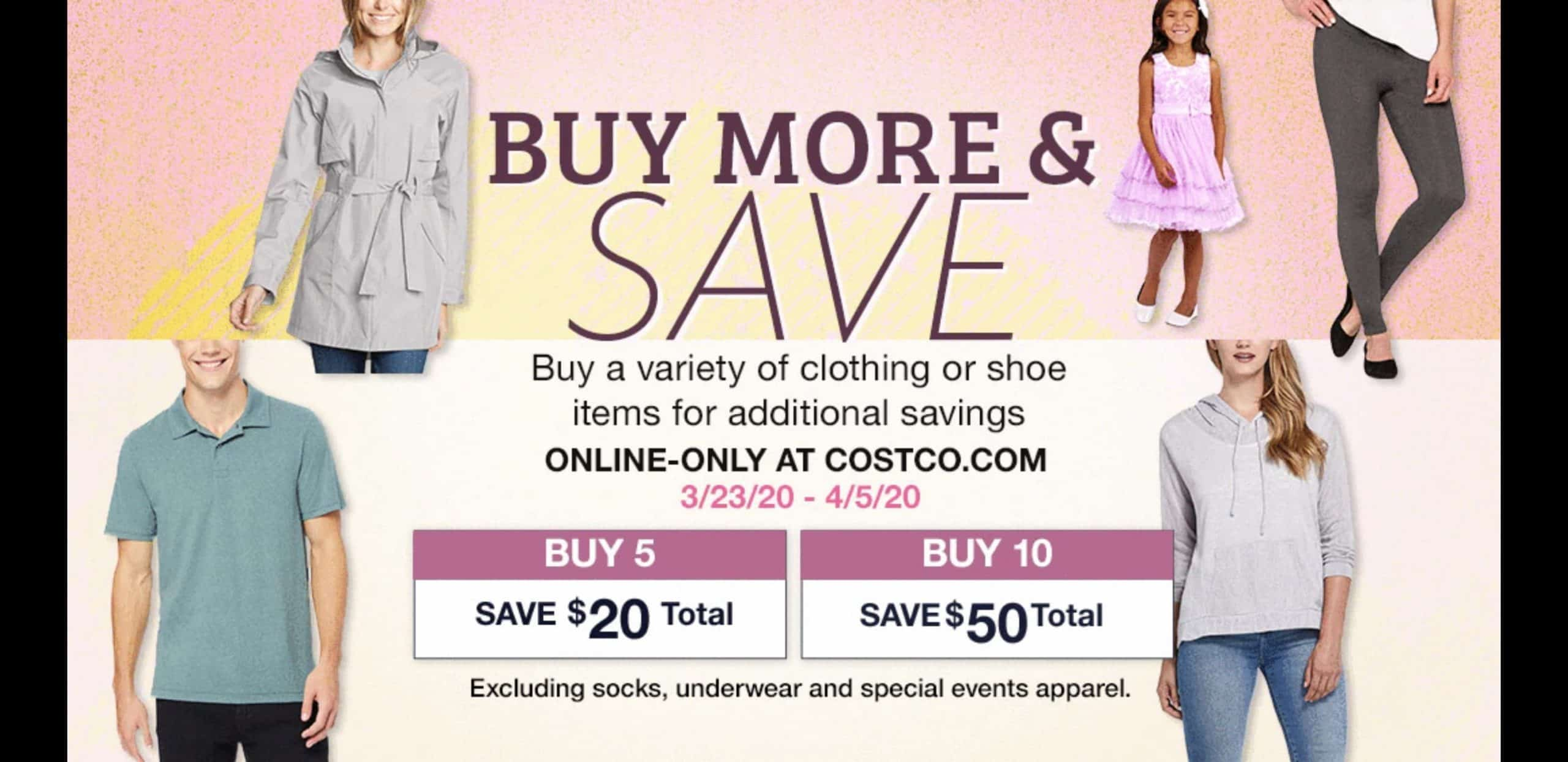 Save $50 on Clothing for the Family at Costco!