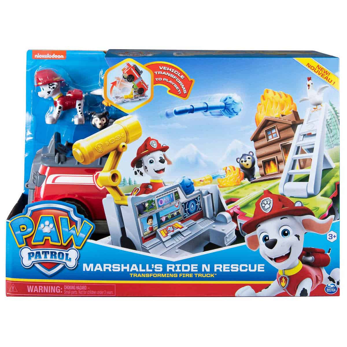 Grab Your Paw Patrol, Marshall's Ride 'n' Rescue, Transforming 2-in-1 Playset and Fire Truck or ONLY $9.97 at Costco.com
