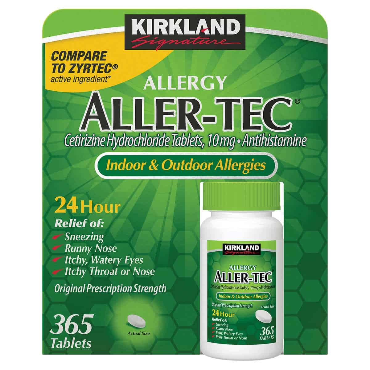 Kirkland Signature Aller-Tec, 365 Tablets only $13.99