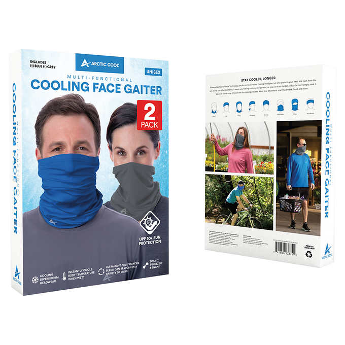 Mask Up! Arctic Cool Face Gaiter 2pk $19.99 Shipped