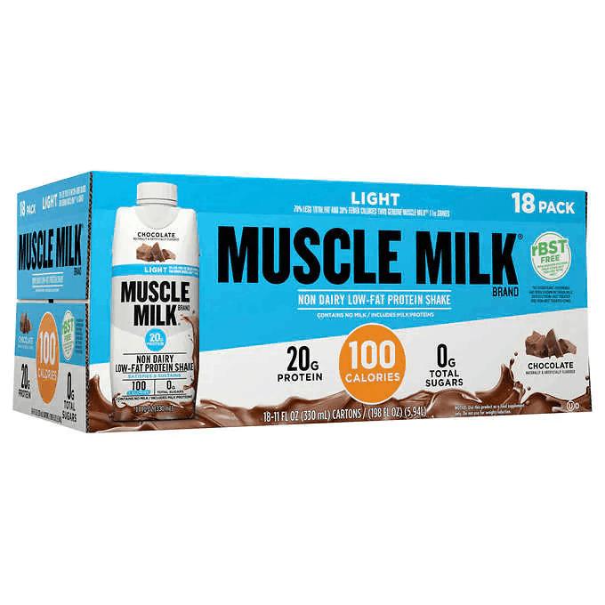 Muscle Milk Light Chocolate Protein Shake 18pk $21.99