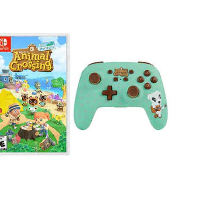 Nintendo Switch Animal Crossing w/ PowerA Wireless Controller $93.99