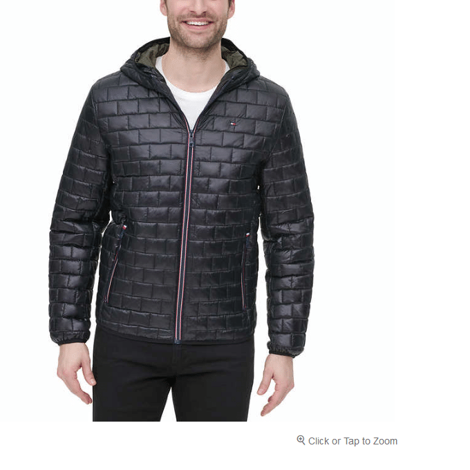 Tommy Hilfiger Men's Brick Quilted Jacket $36.99