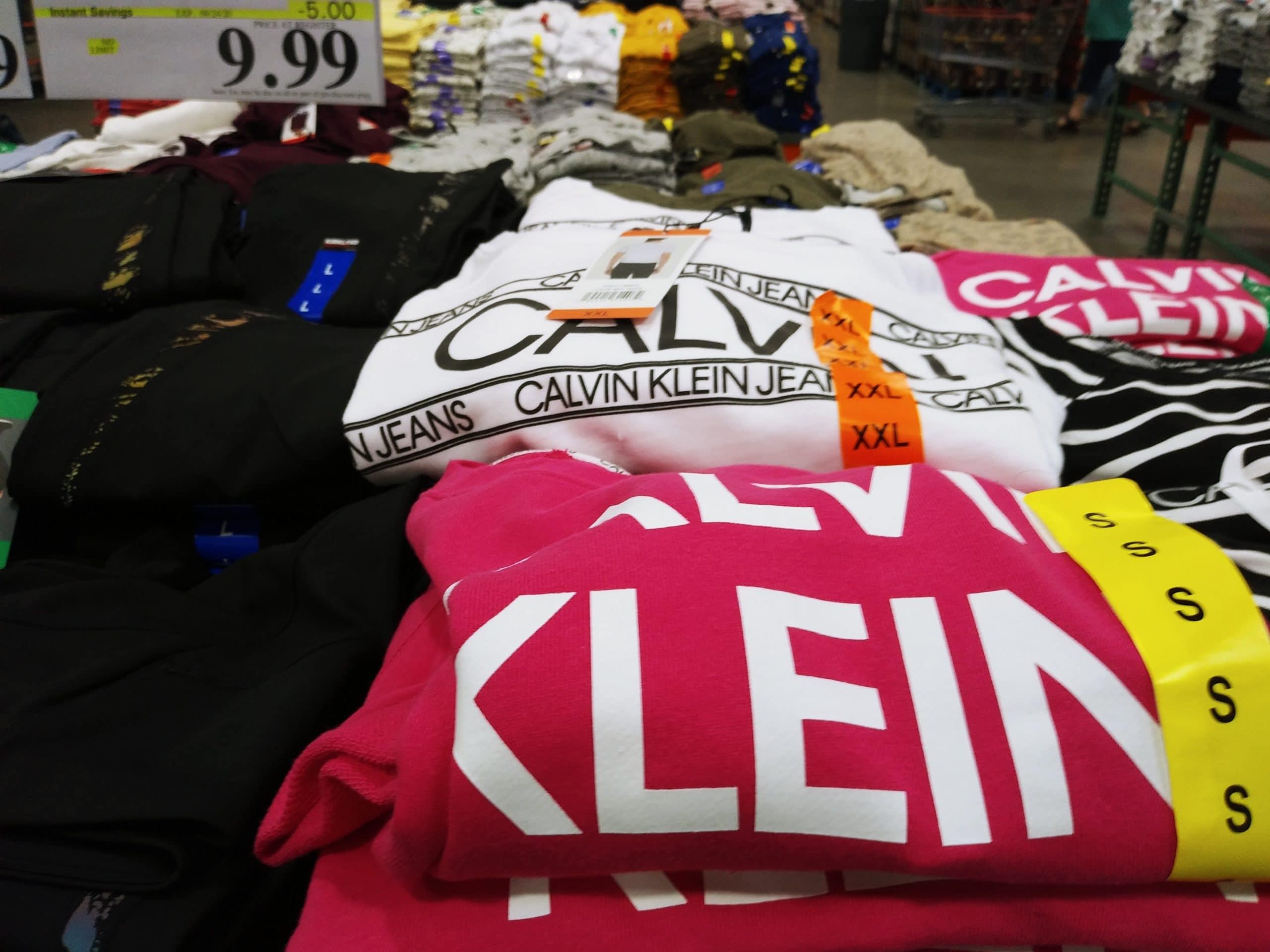 Calvin Klein Jeans Ladies' French Terry Logo Tee $9.99