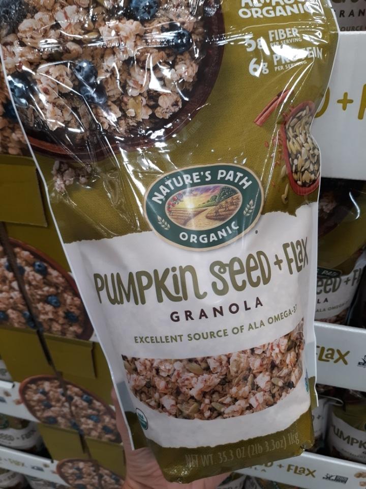 Natures Path Organic Pumpkin Seed and Flax Granola $4.99