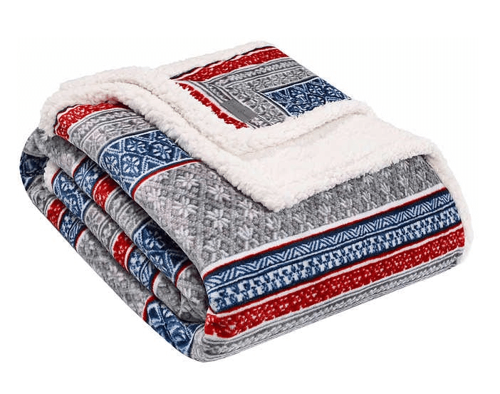 Eddie Bauer Plush Sherpa Throw Blanket $19.99
