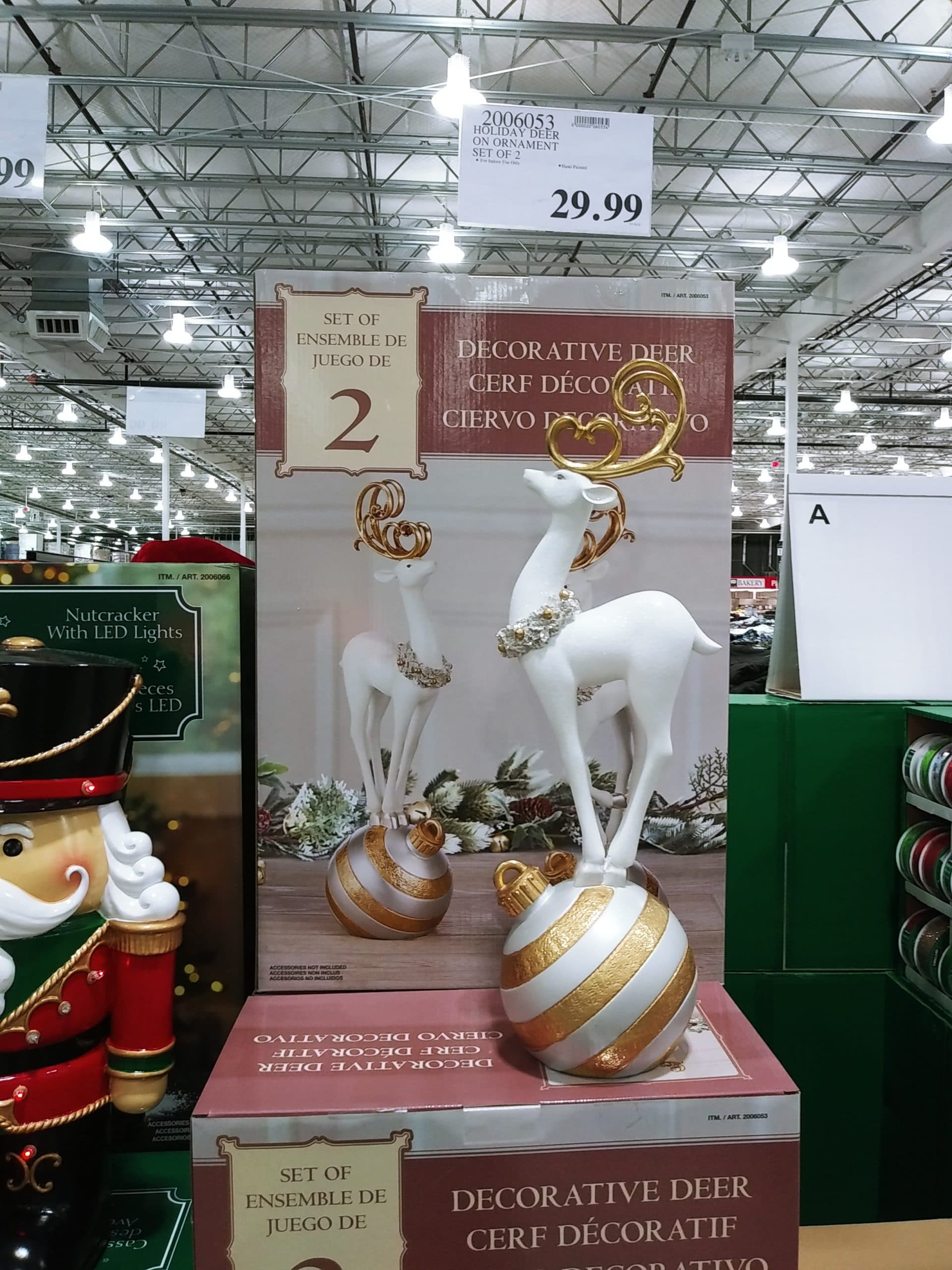 Holiday Deer On Ornament 2pk $29.99