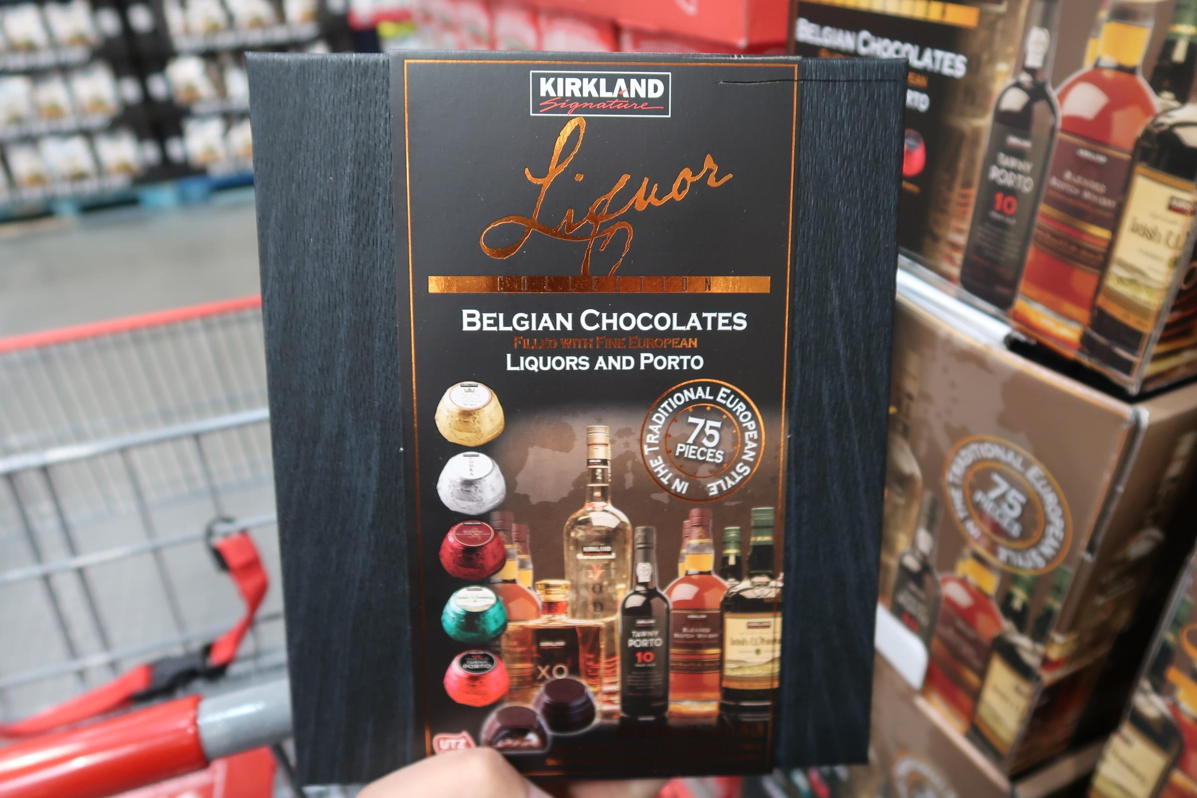 Kirkland Liquor Belgian Chocolates 75pc $16.99