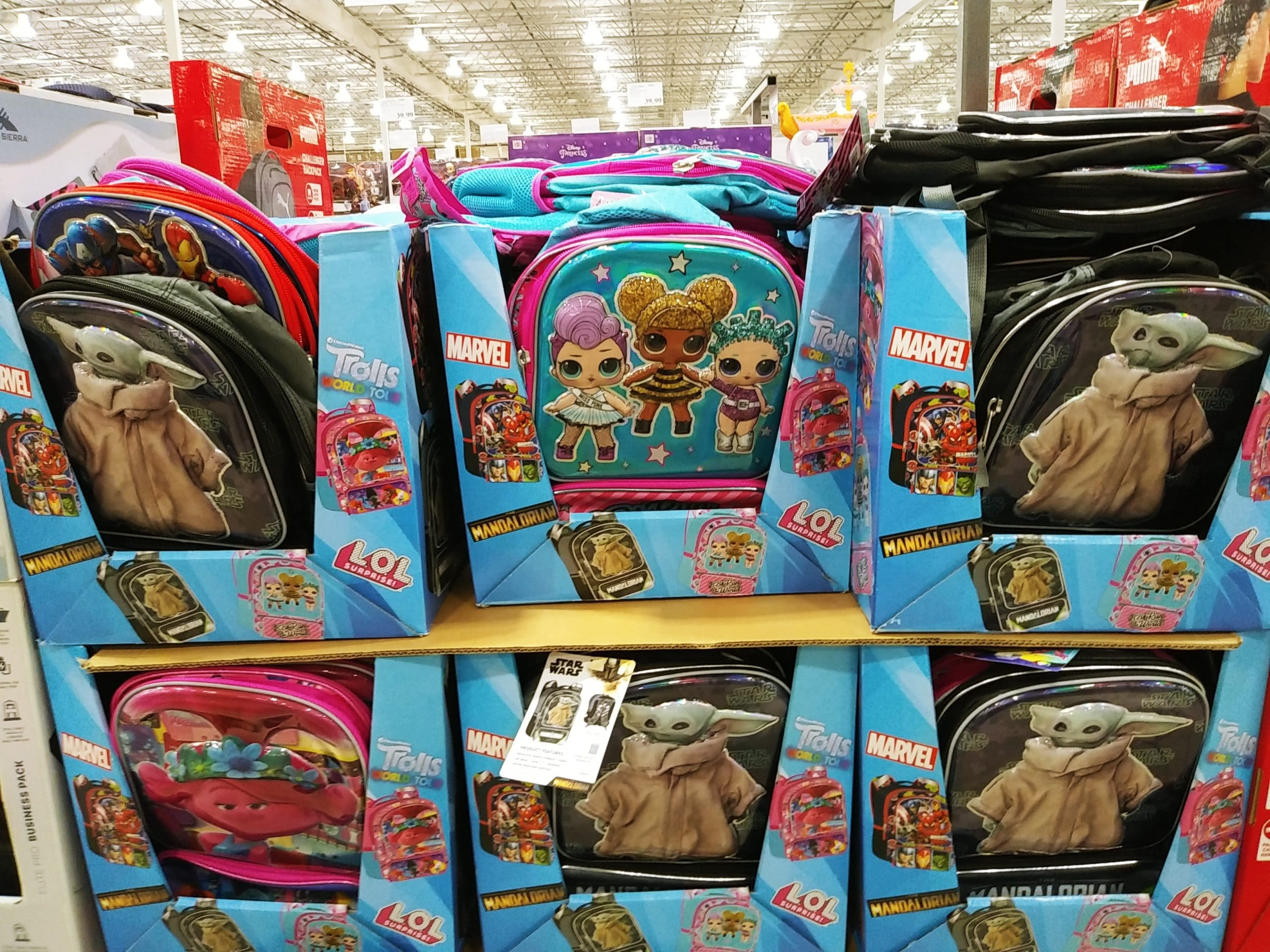 Kids Themed Backpacks $12.99