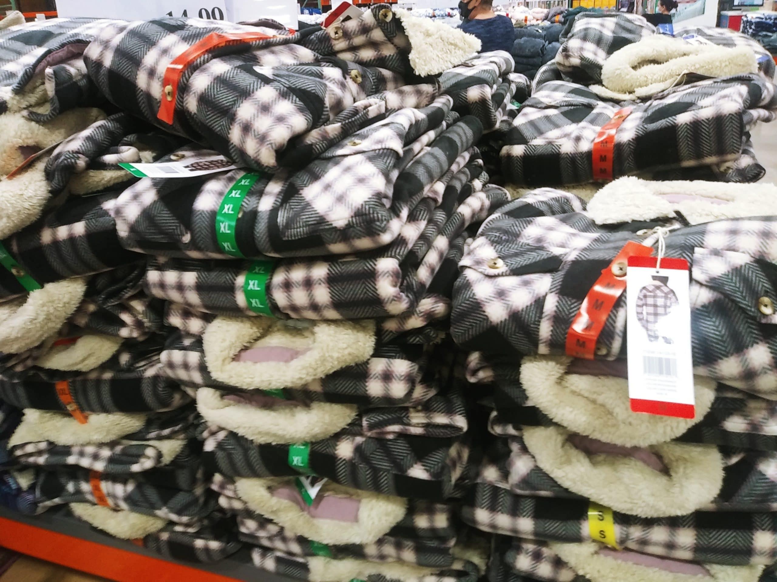 Soho Threads Ladies Plush Shirt Jacket $14.99