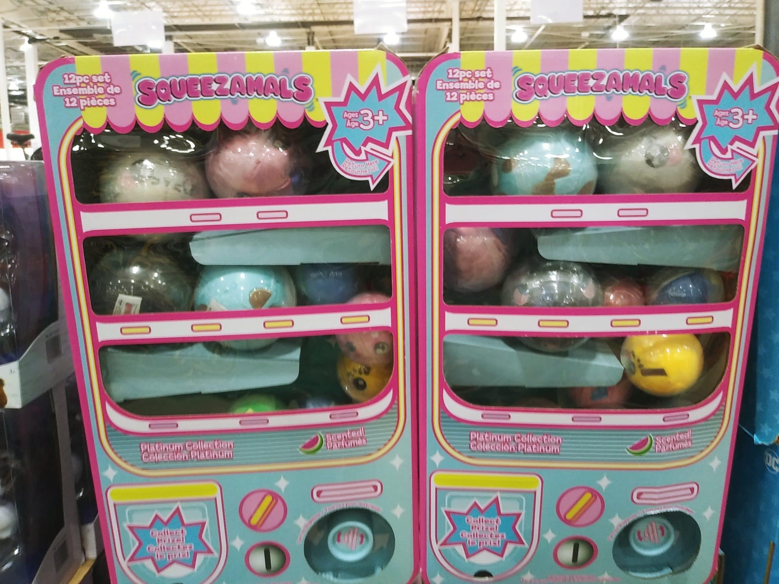 Squeezamals Vending Machine Surprise Plush Set $29.99