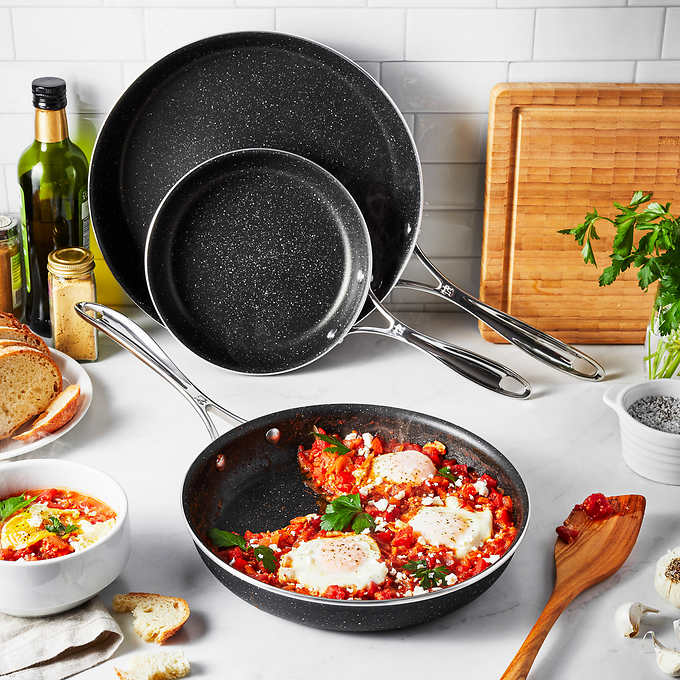 Henckels Capri Notte 3pc Fry Pan Set $59.99