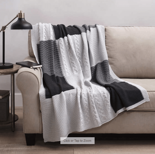 Allied Home Sweater Knit Throw $29.99