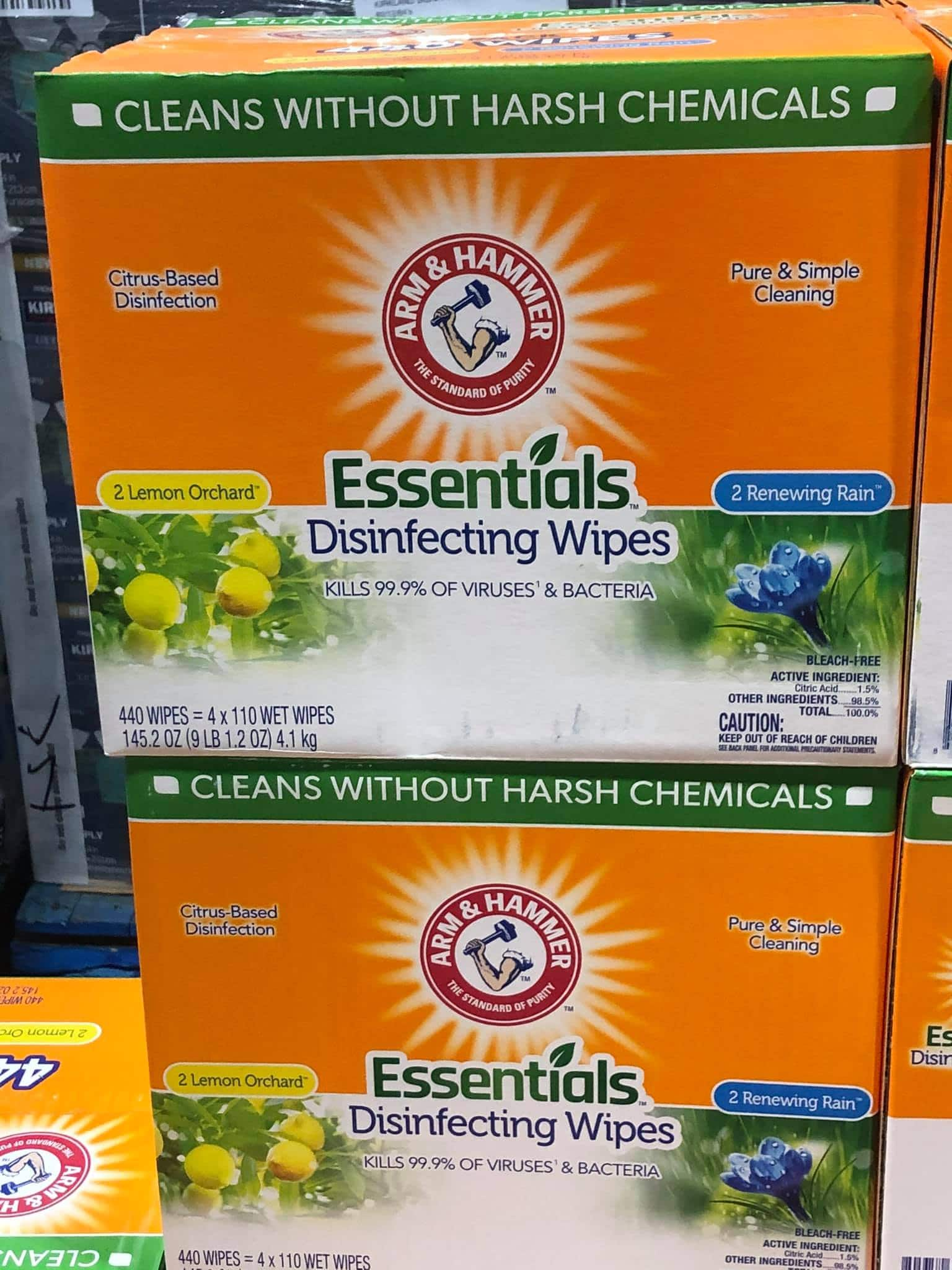 New Arm & Hammer Disinfecting Wipes at Costco