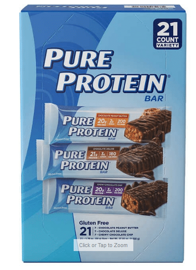 Pure Protein Bars Variety Pack 21ct $16.99
