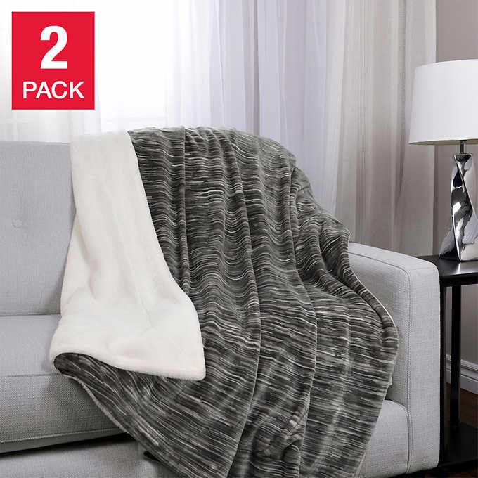 Life Comfort Faux Fur Throw Blanket 2pk $29.99