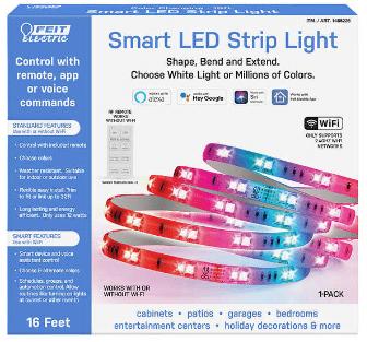 Feit Electric Smart 16′ LED Strip $29.99