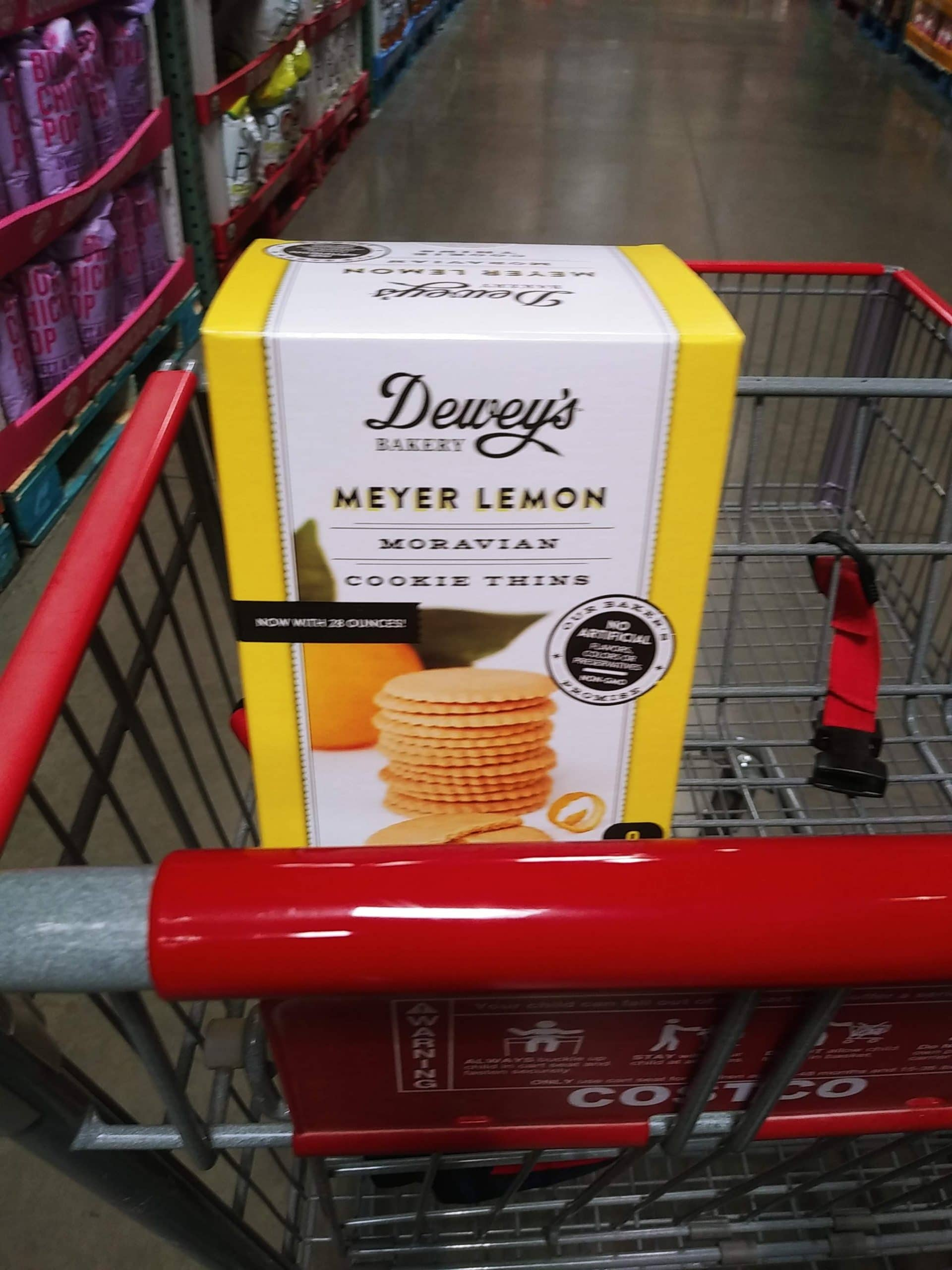 Deweys Meyer Lemon Cookie Thins $5.79