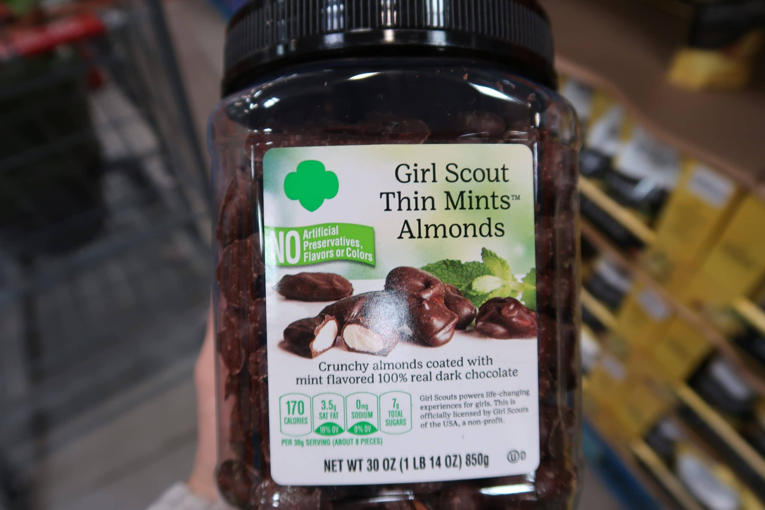 Girl Scout Thin Mints Almonds $12.99!