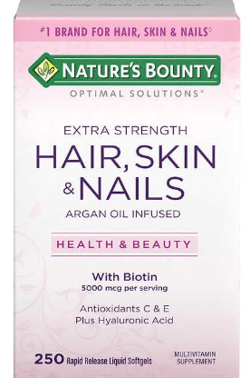 Natures Bounty Hair, Skin, Nails Softgels 250ct $13.99