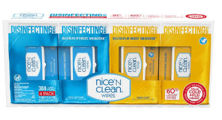 Nice N Clean Disinfecting Wipes $7.99 In-Store