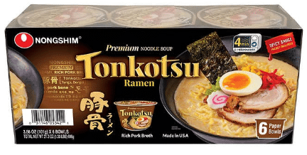 Nongshim Tonkotsu Ramen 6ct $9.49