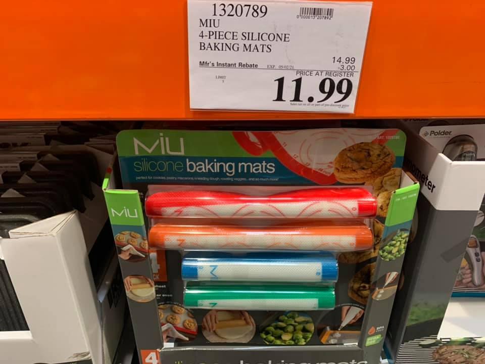 MIU 4 Pc Silicone Baking Mats On Sale at Costco!