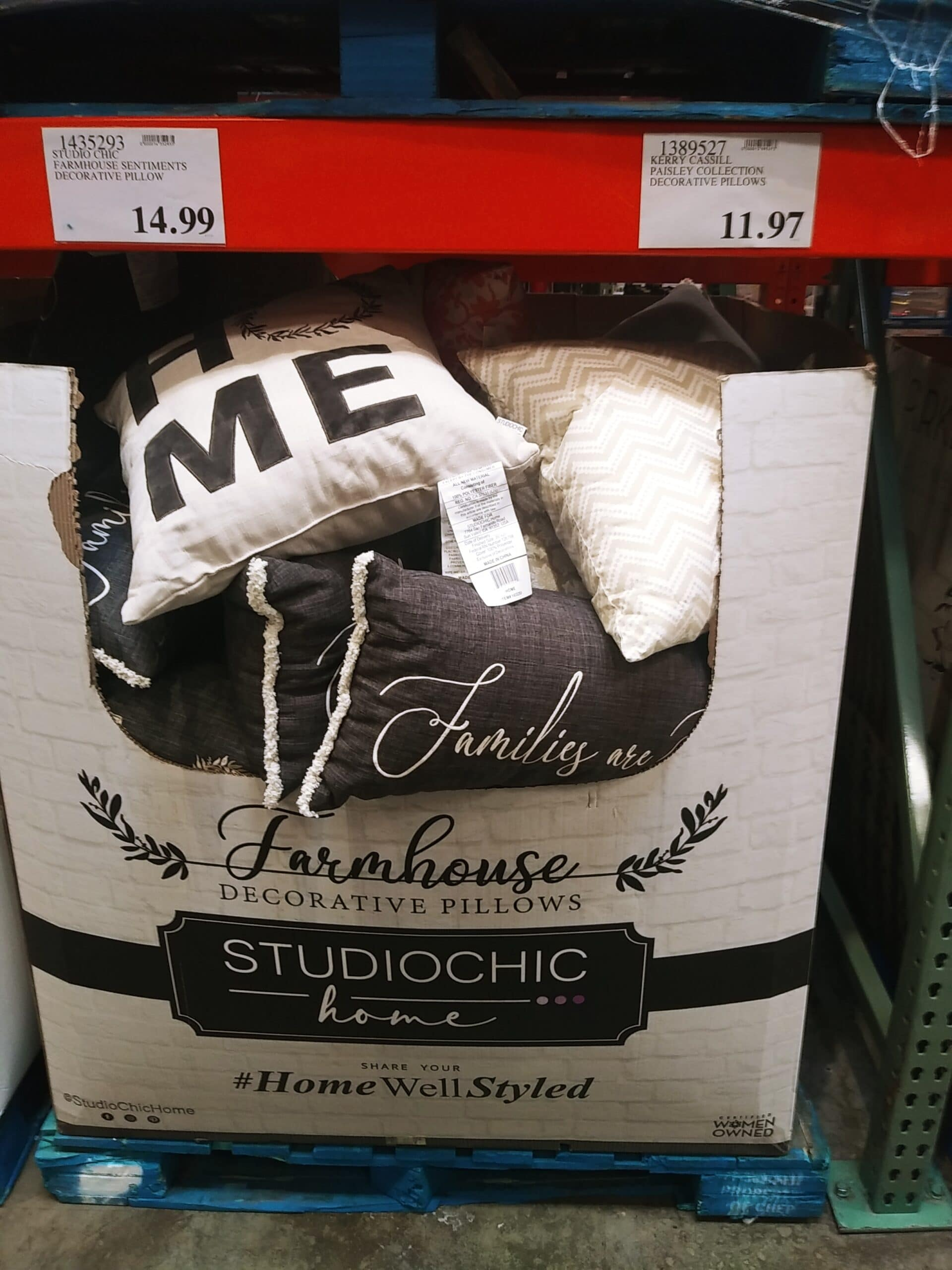 Decorative Farmhouse Pillows $14.99 Each