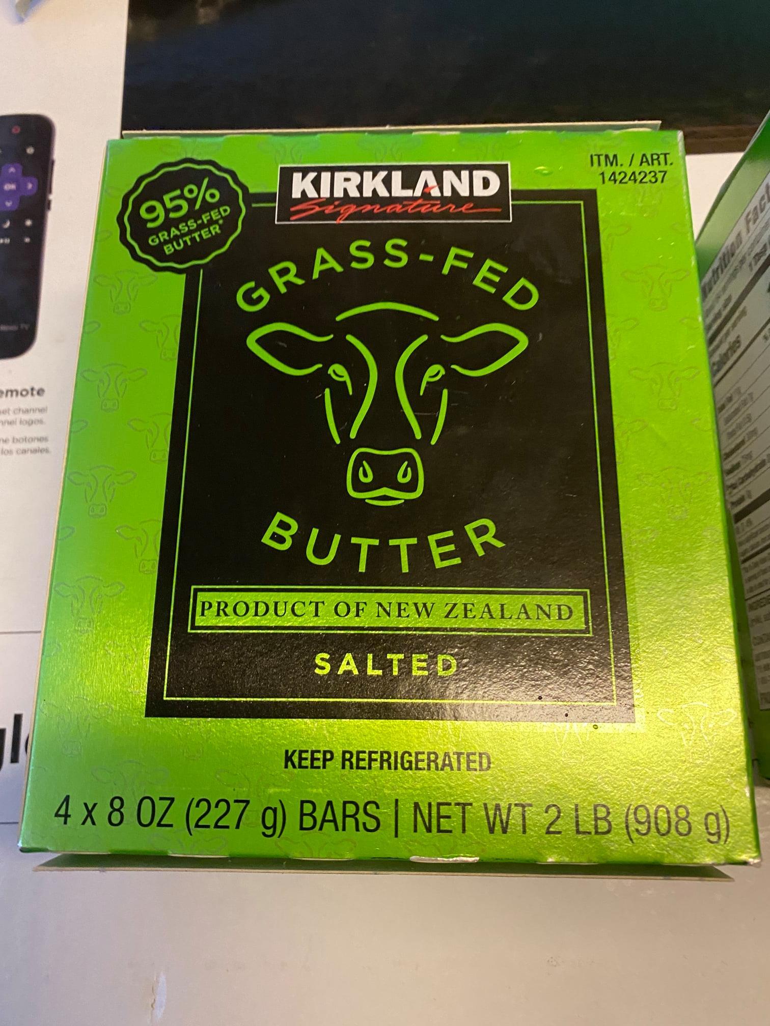Kirkland Grass Fed Salted Butter 2lbs $9.99